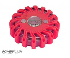 Powerflash LED Warnleuchte Batterie Rot