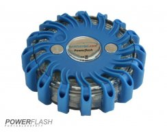 Powerflash LED Warnleuchte Batterie Blau