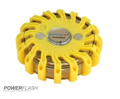 Powerflash LED Warnleuchte Batterie Gelb