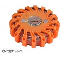 Powerflash LED Warnleuchte Batterie Orange