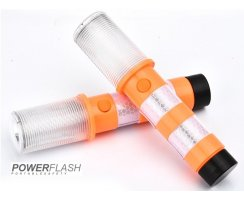 Powerflash LED Warnleuchte Set mit Koffer Orange
