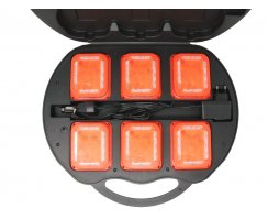 Powerflash Smart Sync LED Kofferset Blitzer Orange