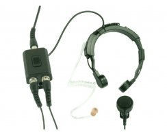 Profi Kehlkopf Security Headset mit Dual-PTT KEP23-QD