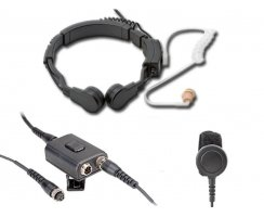 Profi Kehlkopf Security Headset mit Dual-PTT KEP23-RX