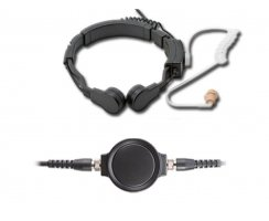 Profi Kehlkopf Security Headset robust KEP33-STP
