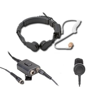 Profi Kehlkopf Security Headset mit Dual-PTT KEP23-CP