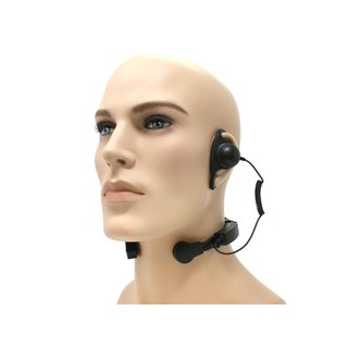 Profi Kehlkopf Security Headset robust KEP35-DP2