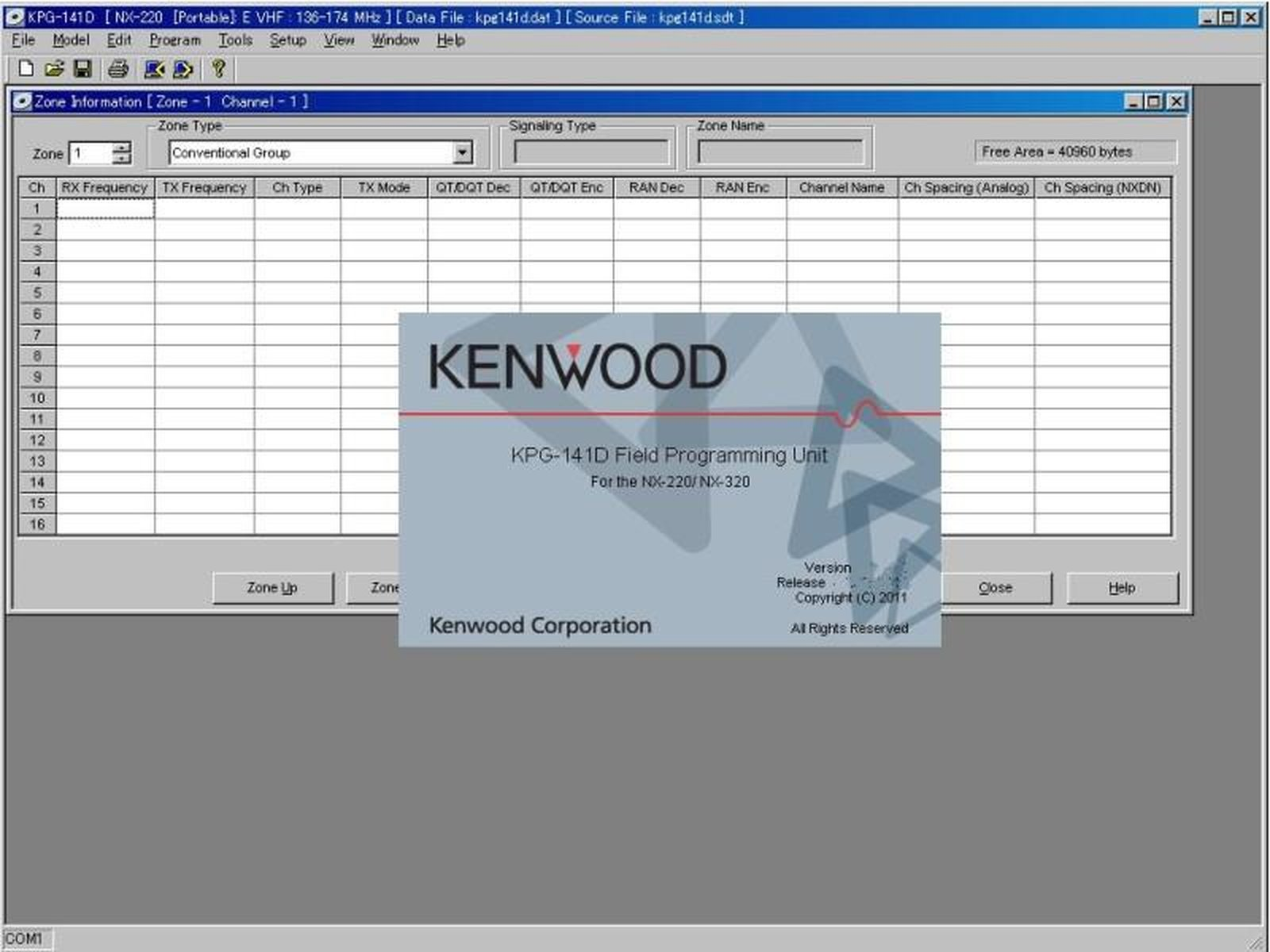 Kenwood KAS-12 Lizenz für intelligentes Batteriemagement Software