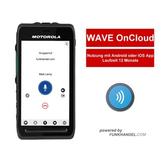 Motorola GMLN5547A WAVE OnCloud Mobile APP Nutzung